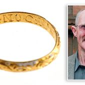 Gold engagement ring from 17th Century discovered lying in field