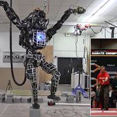 The robo karate kid! Two legged giant robot learns to stand on one leg