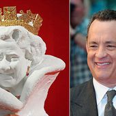 Artist unveils porcelain bust of the Queen which looks like Tom Hanks