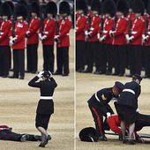 Guardsman collapses during Trooping the Colour ceremony