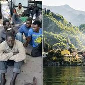 Migrant camp in George Clooney's Italian hideaway