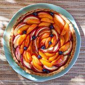 Tarte abricots-pêches - une recette Tarte sucrée - Cuisine