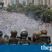 Hugo Chávez statue torn down as death toll rises in Venezuela protests