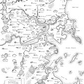 Maps Of Modern Cities Drawn In The Style Of J.R.R. Tolkien