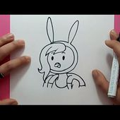Como dibujar a Fionna paso a paso 2 - Hora de aventuras | How to draw Fionna 2 - Adventure time
