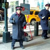 Dancing Salvation Army Bell Ringers