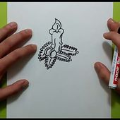 Como dibujar una vela paso a paso 3 | How to draw a candle 3