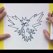 Como dibujar a Zapdos paso a paso - Pokemon | How to draw Zapdos - Pokemon