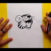 Como dibujar un tigre paso a paso 5 | How to draw a tiger 5