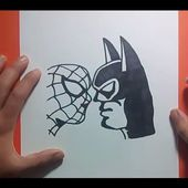 Como dibujar a Batman vs Spiderman paso a paso | How to draw Batman vs Spiderman