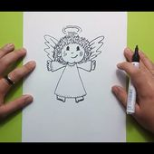 Como dibujar un angel paso a paso 5 | How to draw an angel 5