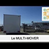 Le MULTI-MOVER en action : déplacement de remorque magasin HVK Humbaur 1 essieu - e-FRANSSEN REMORQUES