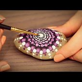 � Painting A Mandala Stone ASMR (Fully Whispered, Binaural, Ear to Ear, Tapping)