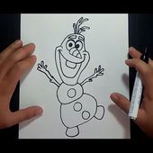 Como dibujar a Olaf paso a paso - Frozen | How to draw Olaf - Frozen