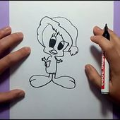 Como dibujar a Piolin paso a paso 2 - Looney Tunes | How to draw Piolin 2 - Looney Tunes