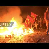 Germany: Street fire breaks out near Rote Flora squat, in G20 protests