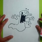 Como dibujar un fantasma paso a paso 8 | How to draw a ghost 8