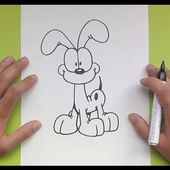 Como dibujar a Odie paso a paso - El show de garfield | How to draw Odie - The Garfield Show