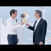 Federer Learns The Perfect Serve With Moët & Chandon