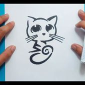 Como dibujar un gato paso a paso 29 | How to draw a cat 29