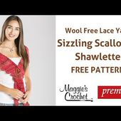 Scallopped Shawlette Free Crochet Pattern - Right Handed