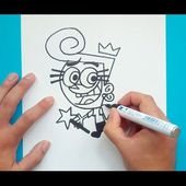 Como dibujar a Wanda paso a paso - Los padrinos magicos | How to draw Wanda - The Fairly OddParents
