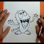 Como dibujar un monstruo paso a paso 9 | How to draw a monster 9
