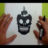 Como dibujar una calavera paso a paso 13 | How to draw a skull 13