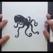 Como dibujar un pulpo paso a paso 4 | How to draw a octopus 4
