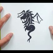 Como dibujar un dragon paso a paso 17 | How to draw one dragon 17