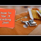 How To Use a Cording Foot :: by Babs at Fiery Phoenix