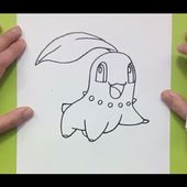 Como dibujar a Chikorita paso a paso - Pokemon | How to draw Chikorita - Pokemon