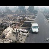 U.S.P.S Postman Delivers Mail Santa Rosa Fires Drone Video By Douglas Thron October 10, 2017