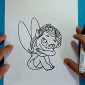 Como dibujar un hada paso a paso | How to draw a fairy