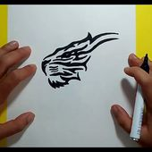 Como dibujar un tigre tribal paso a paso | How to draw a tribal tiger