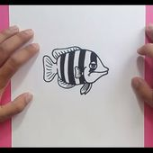 Como dibujar un pez paso a paso 15 | How to draw a fish 15