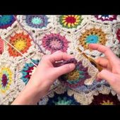 Indie Lovely star flower hexagon crochet pattern
