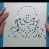 Como dibujar a Krilin paso a paso - Dragon ball | How to draw Krilin - Dragon ball