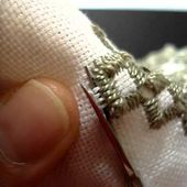 Hardanger Embroidery, Lesson 11, Cutting around Blanket Stitches