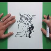 Como dibujar a Yoda paso a paso - Star Wars | How to draw Yoda - Star Wars