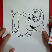 Como dibujar un elefante paso a paso 6 | How to draw an elephant 6
