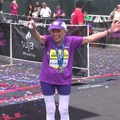 RAW VIDEO: Harriette Thompson finishes San Diego Rock 'n' Roll Marathon