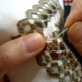 Hardanger Embroidery, Lesson 10 cont'd, One more Dove's Eye
