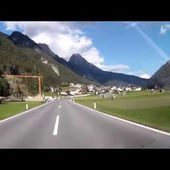 14 Goldwing Unsersbande Tirol 2015 St Anton dans la vallée vers Nauders