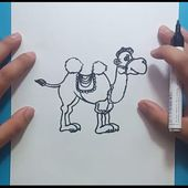Como dibujar un camello paso a paso 2 | How to draw a camel 2