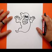Como dibujar un fantasma paso a paso 12 | How to draw a ghost 12