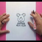 Como dibujar un oso de peluche paso a paso 21 | How to draw a teddy bear 21