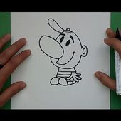 Como dibujar a Billy paso a paso - Las macabras aventuras de billy y mandy | How to draw Billy