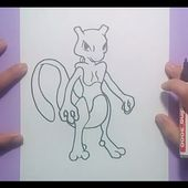 Como dibujar a Mewtwo paso a paso - Pokemon | How to draw Mewtwo - Pokemon