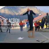 "Nigel Rolfe ""Hanging Vessel"" Arctic Action Spitsbergen"